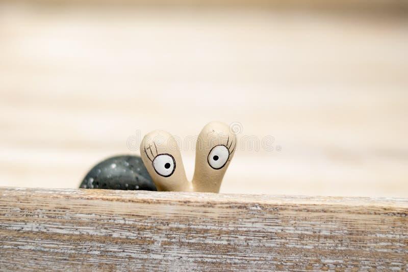 Escargot regardant à vous photo stock