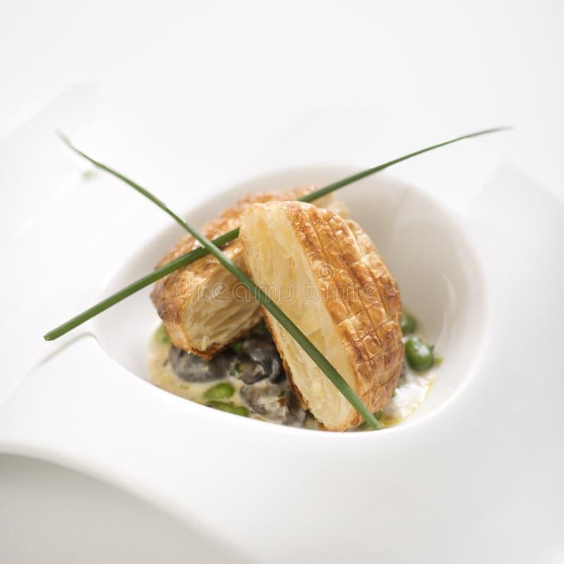 Escargot y pan del croute. fotos de archivo
