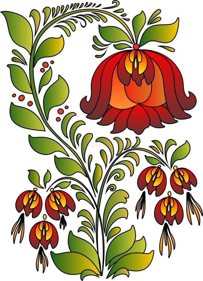 Escarlate da flor imagens de stock