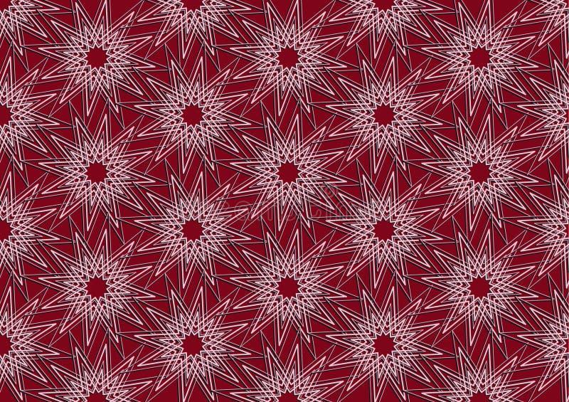 Escarlate do teste padrão colorido da repetição das estrelas imagens de stock