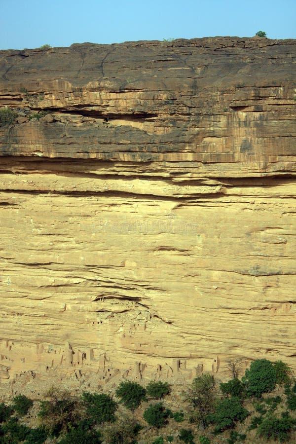 Escarpa de Bandiagara foto de archivo libre de regalías