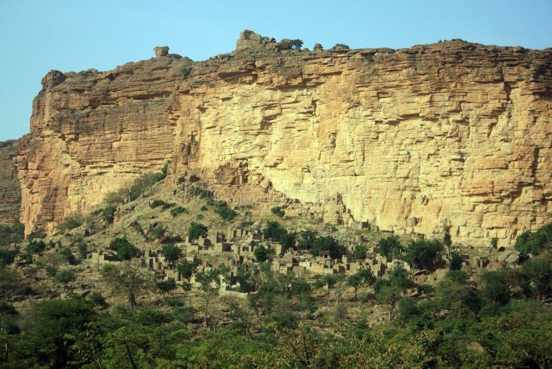 Escarpa de Bandiagara fotografía de archivo libre de regalías