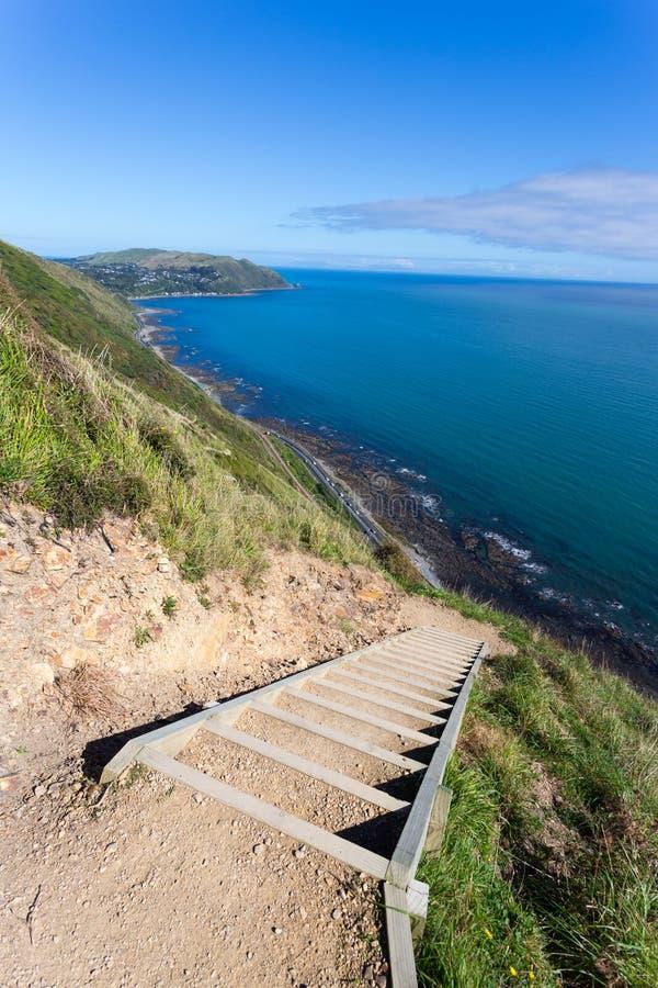Escarpment следа побережья Kapiti стоковая фотография