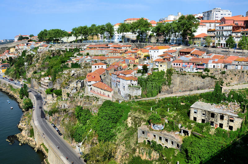 Escarpment na cidade de Porto imagens de stock royalty free