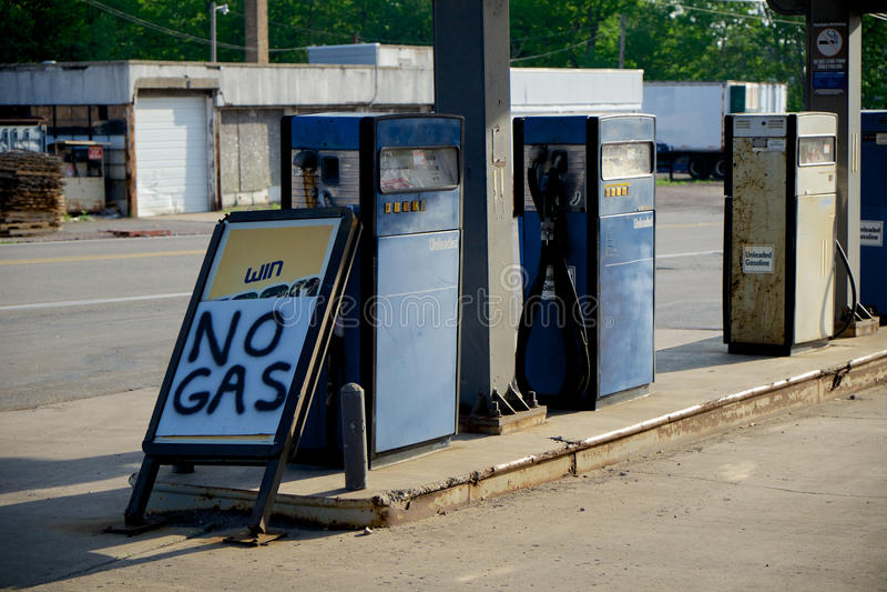 Escasez del gas imagen de archivo libre de regalías