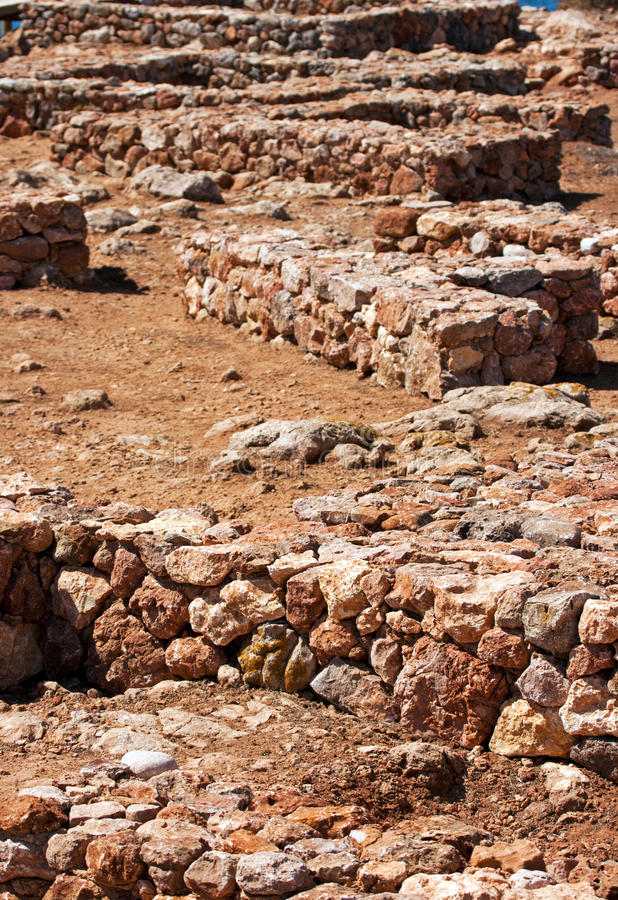 Escavação Archaeological imagens de stock
