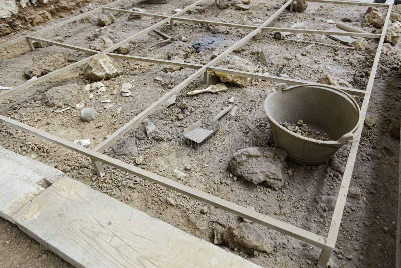 Escavação Archaeological fotografia de stock