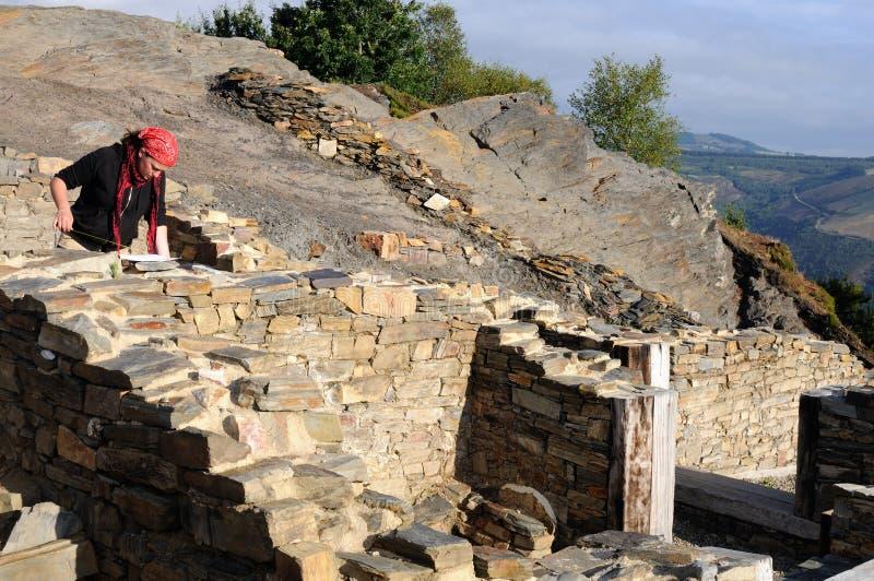 Escavação Archaeological. As Astúrias fotos de stock royalty free