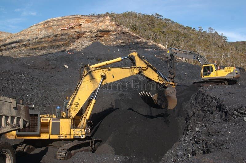 Escavação de carvão imagem de stock royalty free