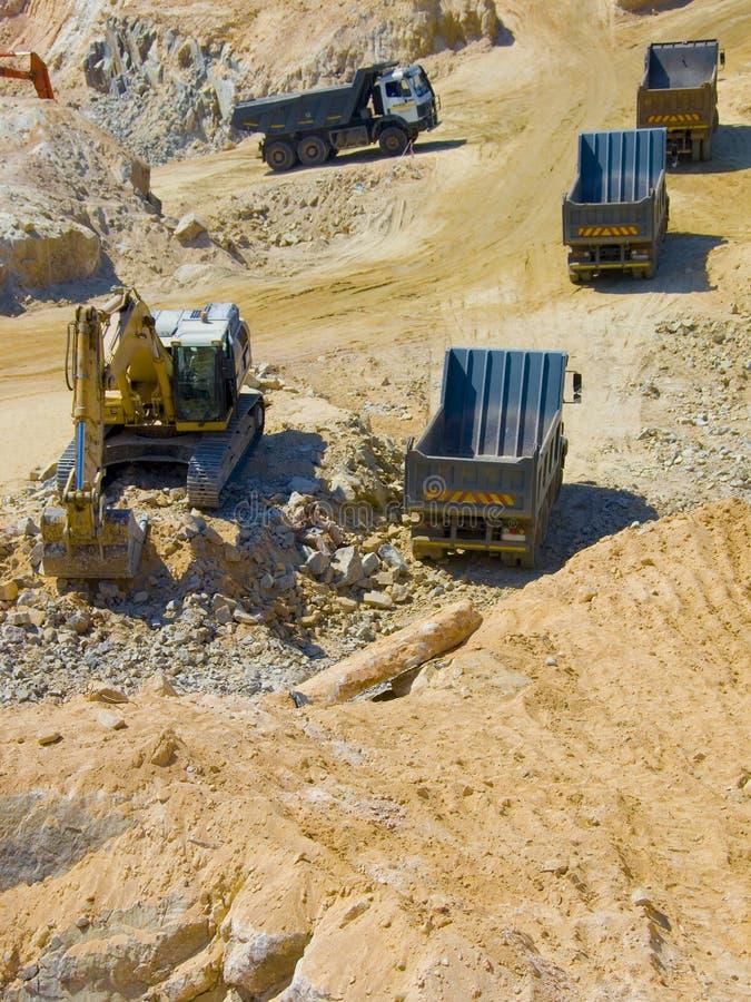 Escavação do canteiro de obras foto de stock