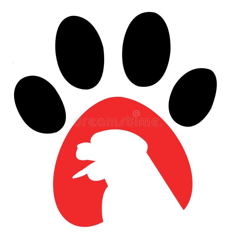 Escavação e trilhas - logotipo ilustração royalty free