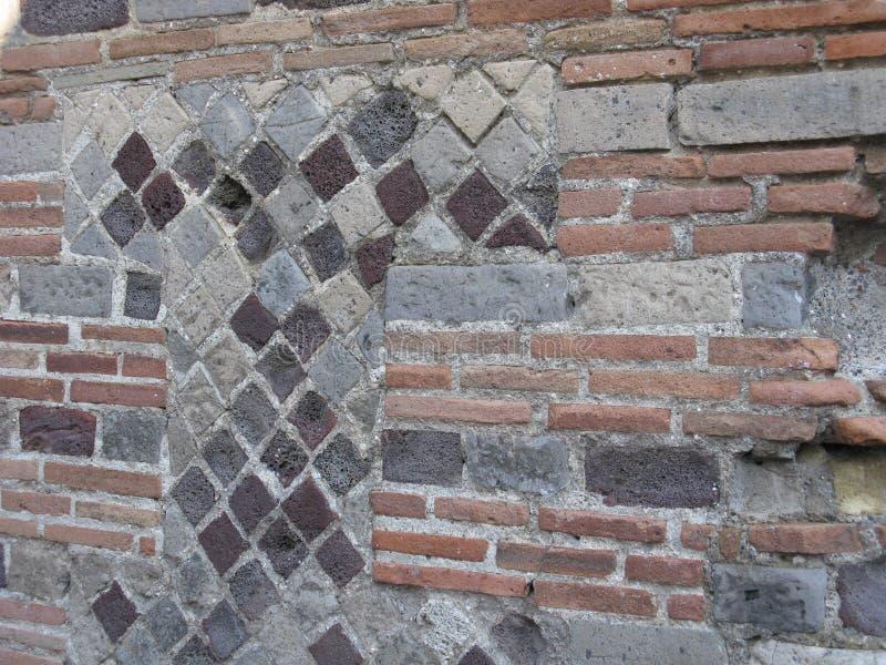 Escavações de Pompeii imagens de stock