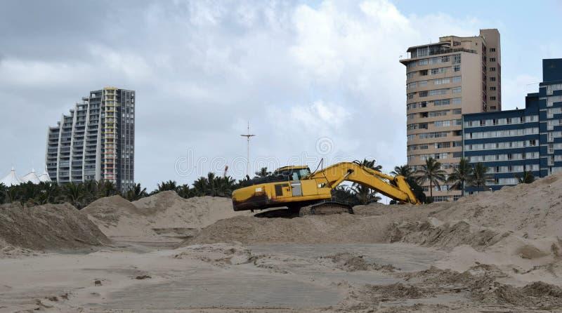Escavador da cidade imagem de stock