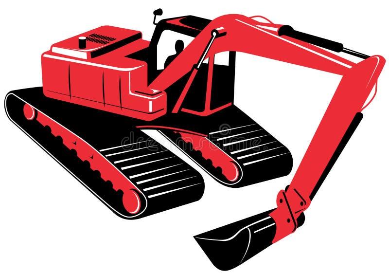 Escavador mecânico ilustração royalty free