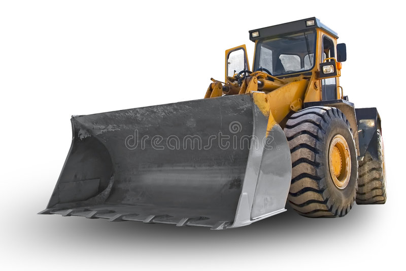 Escavadora isolada fotografia de stock