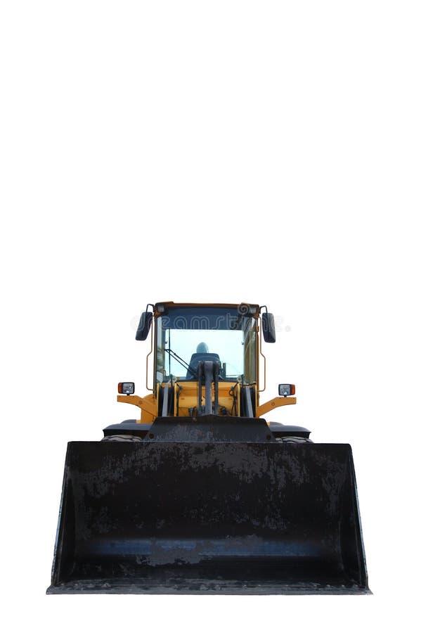 Escavadora isolada no branco imagem de stock royalty free