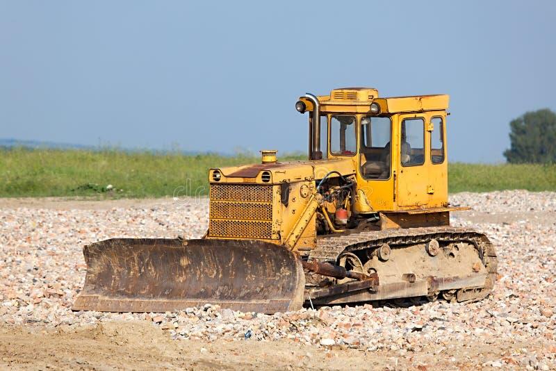 Escavadora velha foto de stock
