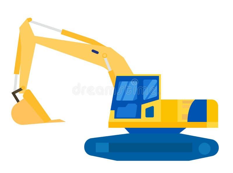 Escavator设备 库存例证