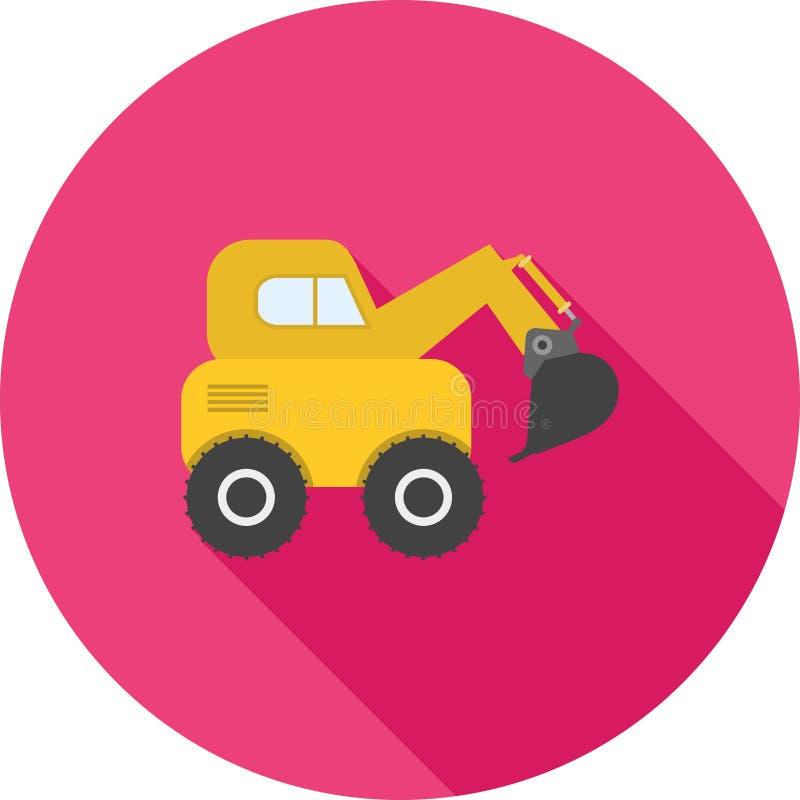 Escavator 库存例证