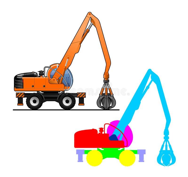 Escavatore illustrazione di stock