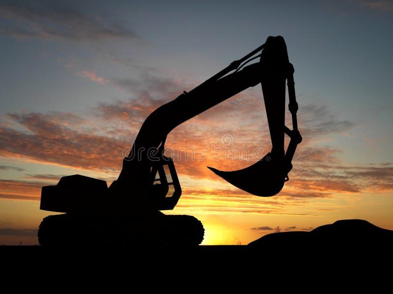 Escavatore illustrazione vettoriale