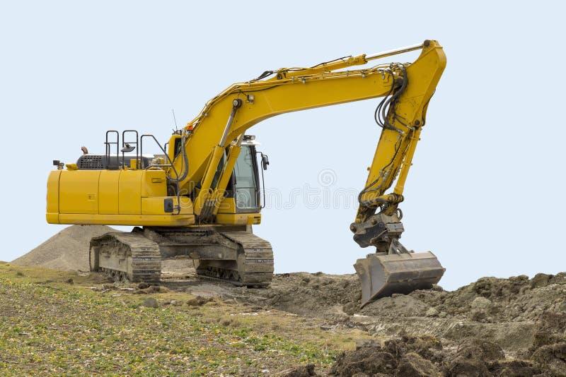 Escavatore ad un cantiere fotografie stock libere da diritti