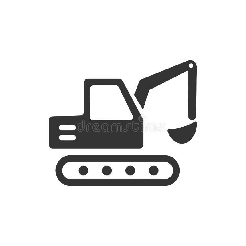 Escavatore, Crane Icon royalty illustrazione gratis