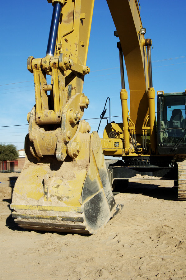 Escavatore a cucchiaia rovescia 2 fotografia stock libera da diritti