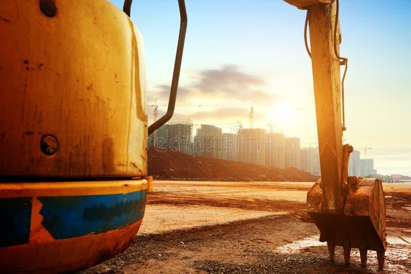 Escavatore del cantiere fotografia stock