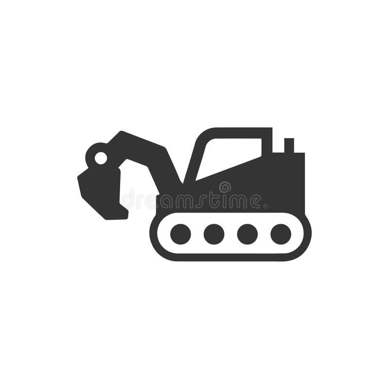 Escavatore, Digger Icon royalty illustrazione gratis