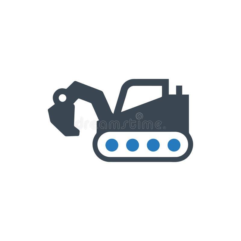 Escavatore, Digger Icon illustrazione di stock