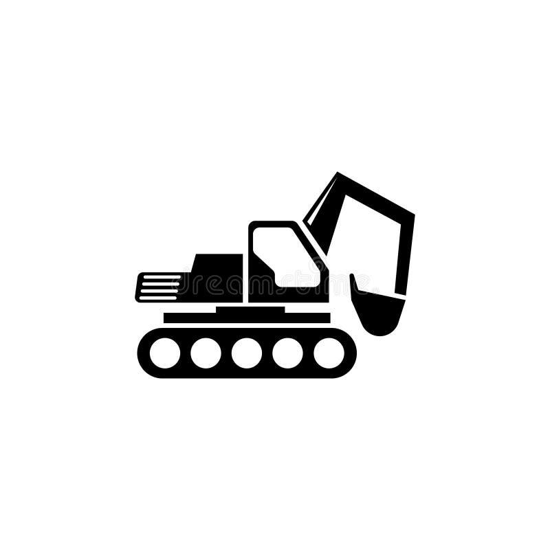 Escavatore Flat Vector Icon fotografie stock