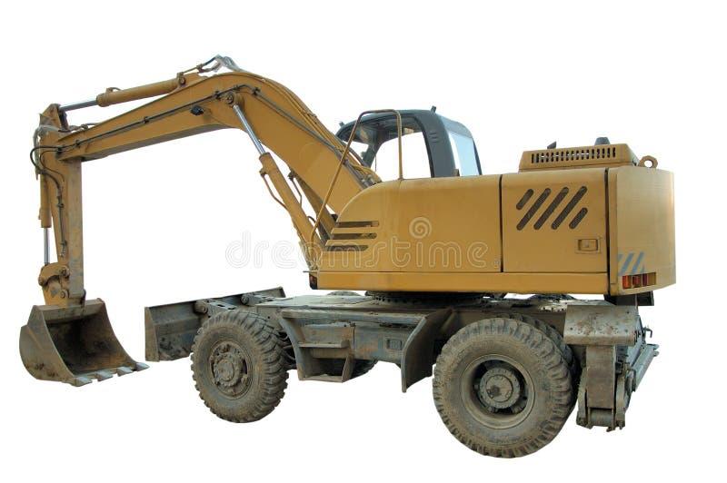 Escavatore - il bulldozer ha isolato immagini stock