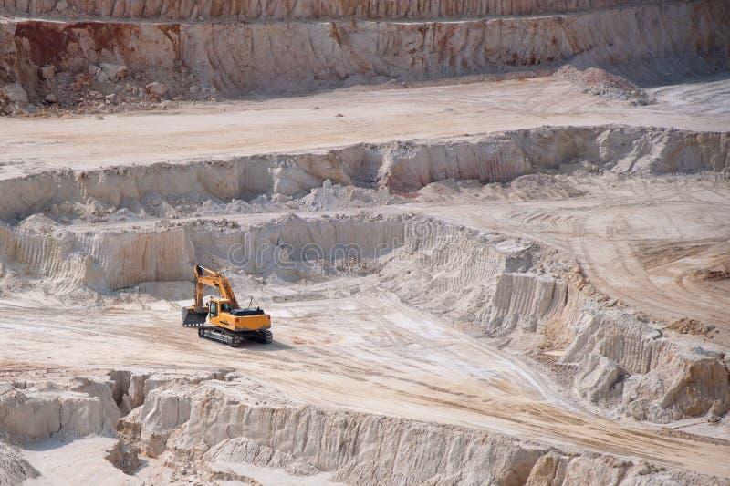 Escavatore in miniera a cielo aperto immagine stock libera da diritti