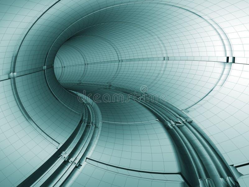 Escave um túnel o modelo ilustração stock
