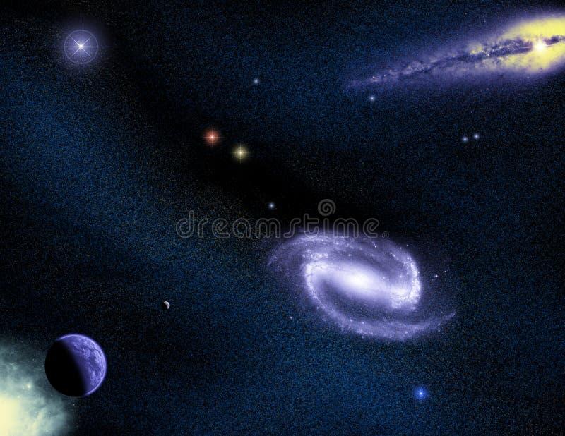 Escena 03 del espacio ilustración del vector