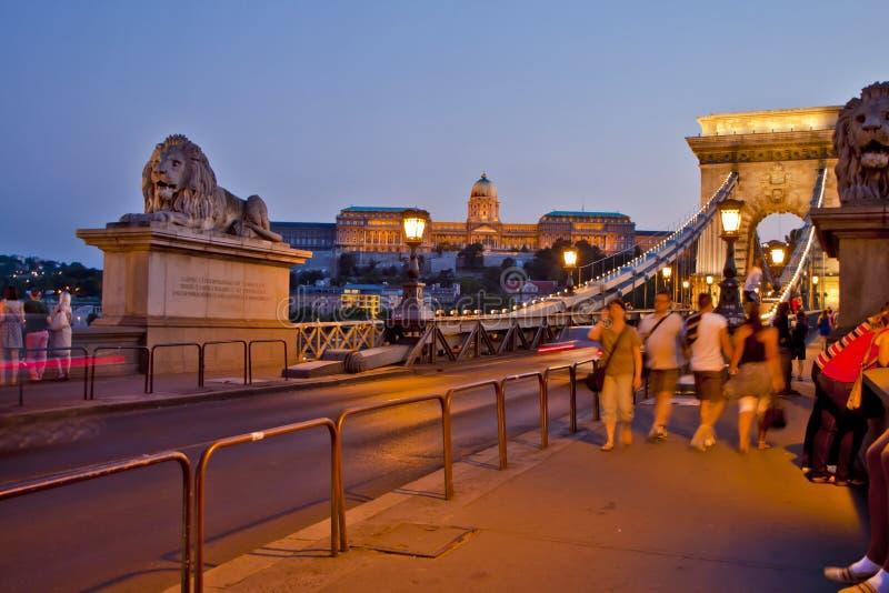 Escena adentro, Budapest Hungría imagenes de archivo