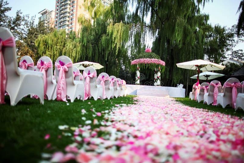 escena al aire libre de la boda foto de archivo imagen