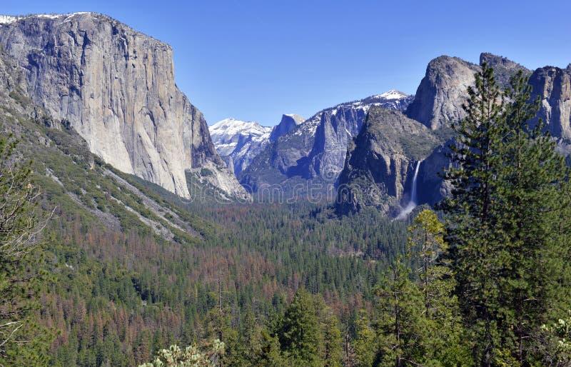 Escena alpina en el parque nacional de Yosemite, Sierra Nevada Mountains, California imagen de archivo