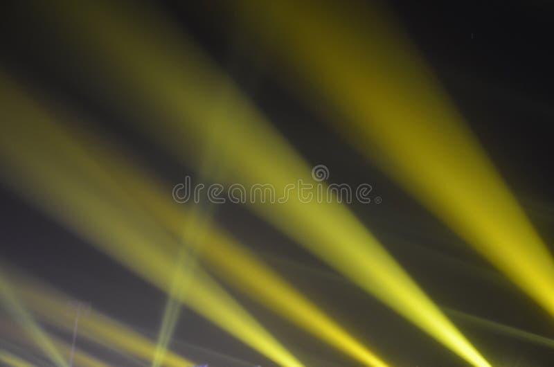 Escena amarilla de la noche de la luz del deporte foto de archivo libre de regalías
