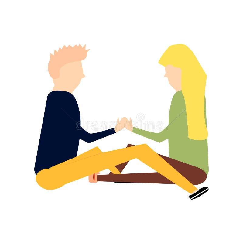 Escena con los pares románticos adorables libre illustration