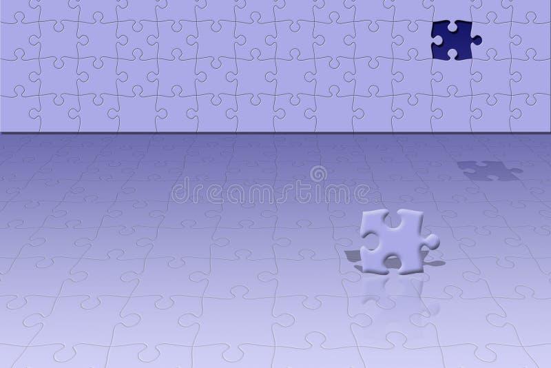 Escena conceptual del rompecabezas stock de ilustración