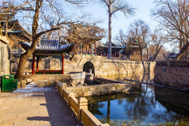 Escena conmemorativa del templo de Jinci (museo). Primavera de Nanlao. fotografía de archivo