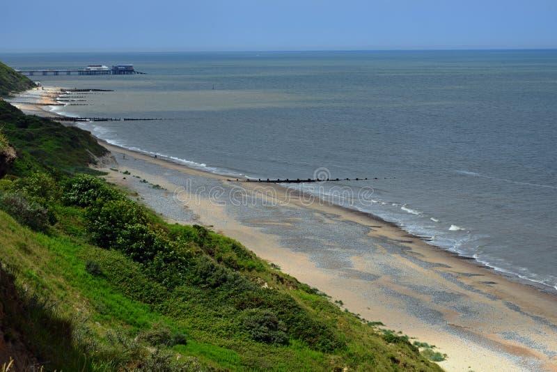 Escena costera, Cromer, Norfolk, Inglaterra fotografía de archivo libre de regalías
