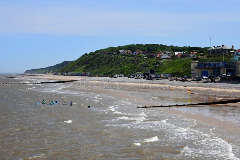Escena costera, Cromer, Norfolk, Inglaterra imagenes de archivo