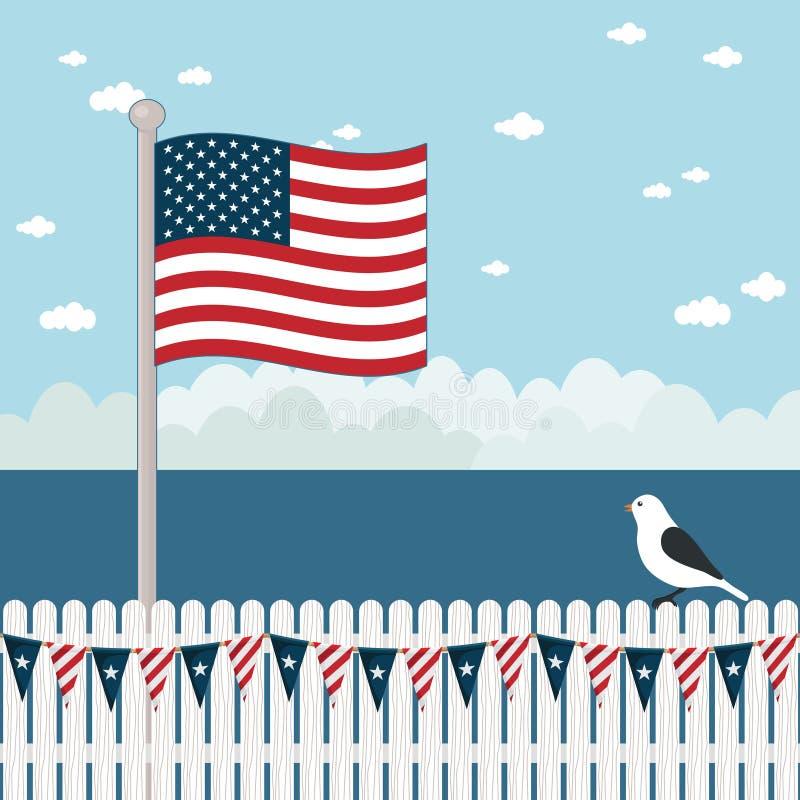 Escena costera de los E.E.U.U. ilustración del vector