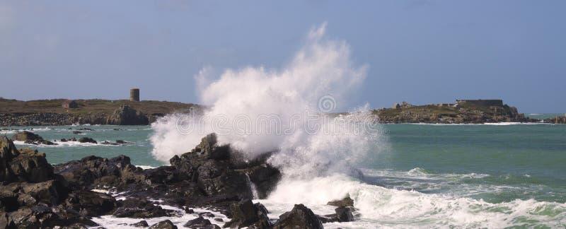Escena costera en Guernesey fotografía de archivo libre de regalías