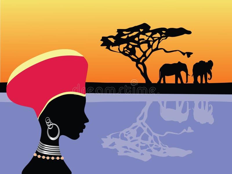 Escena de África ilustración del vector