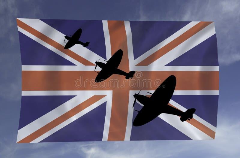 Escena de batalla de Inglaterra stock de ilustración