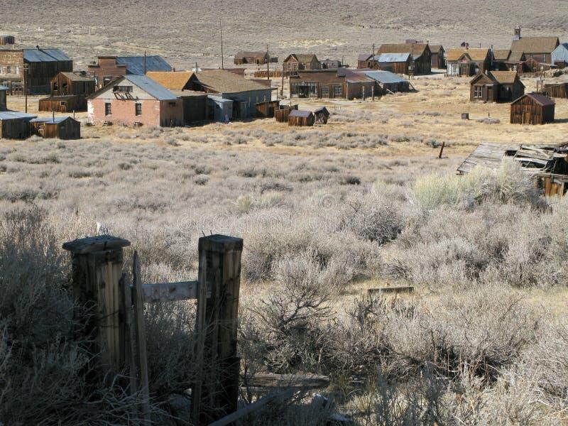 Escena de Bodie California fotografía de archivo